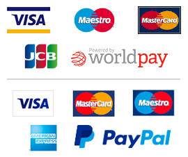 Secure Payment powered by WorldPay & Paypal